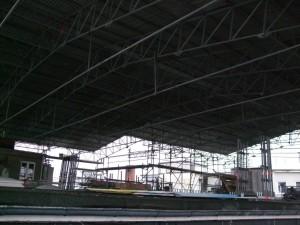 Das Wetterdach über dem abzubrechenden Staffelgesschoss - Kopie